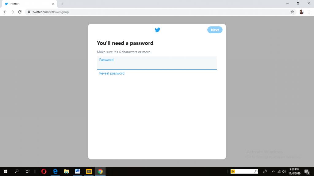 je Twitter-wachtwoord instellen