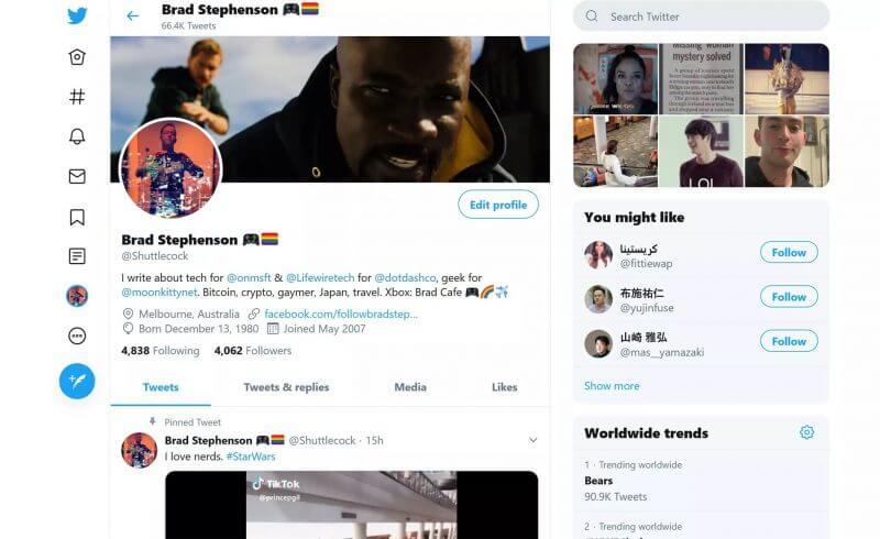 Twitter Donkere modus voor Windows 10 en de webinterface