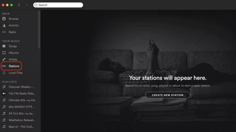 Start a Radio Station from Any Song