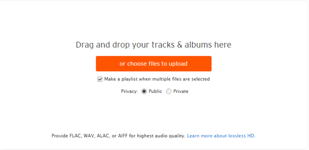 Uploading your music tracks to SoundCloud