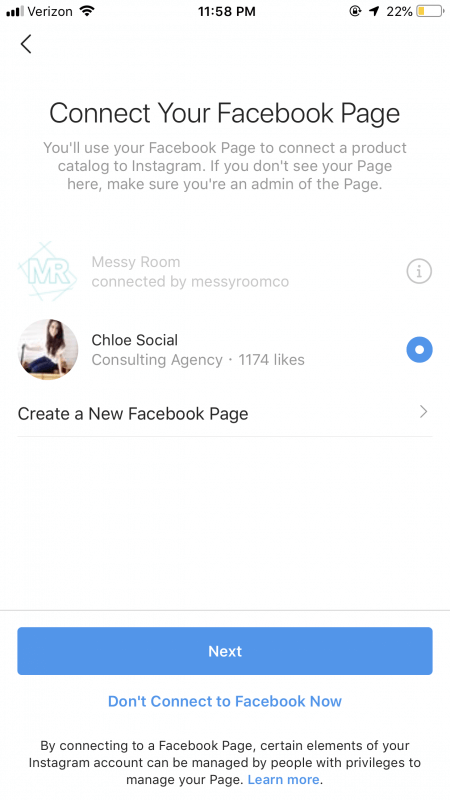 Connect your Facebook Page