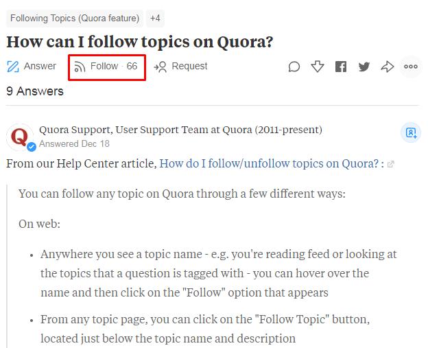 How Quora makes the content look bigger