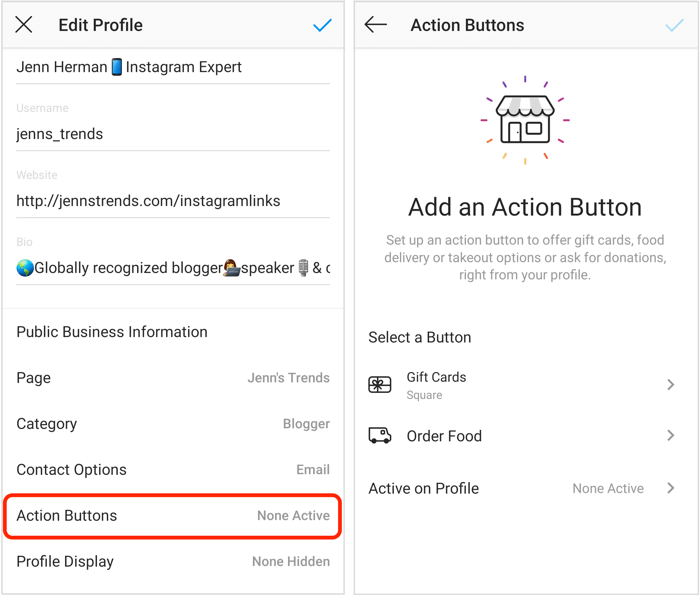 profile for effortless access