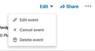 Edit or Change Event Details