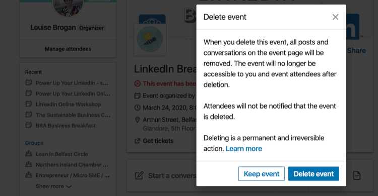 stay recorded on LinkedIn