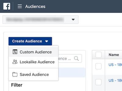 Create Facebook Custom Audiences of Top Clients