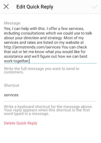 Bewerk een Insta-gram Swift Reply