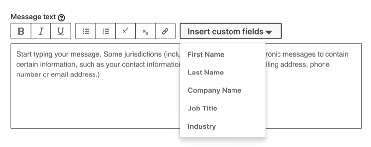 click Insert customized Fields