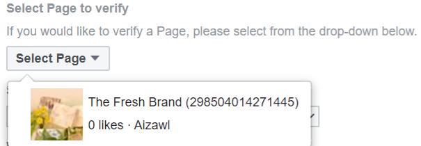 Choisis la page ou le compte à vérifier