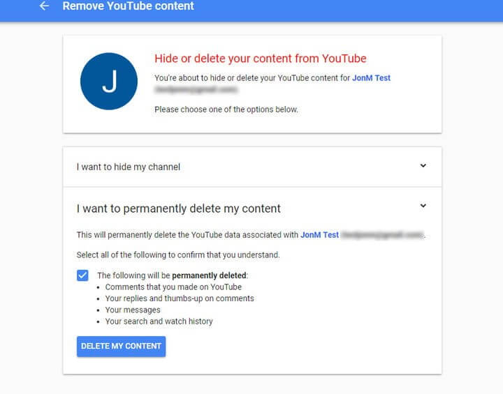 Deleting Your YouTube Channel