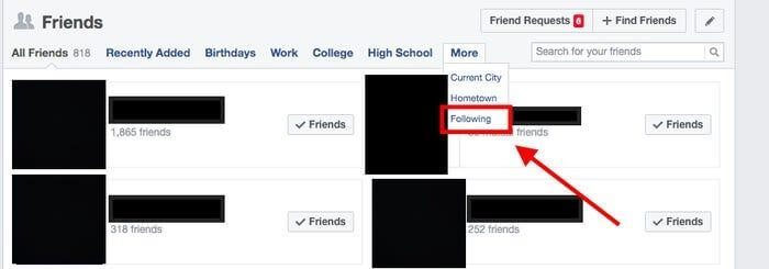 friend request, or more