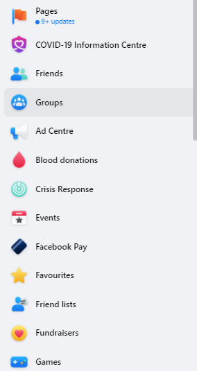 the option for groups. Select it