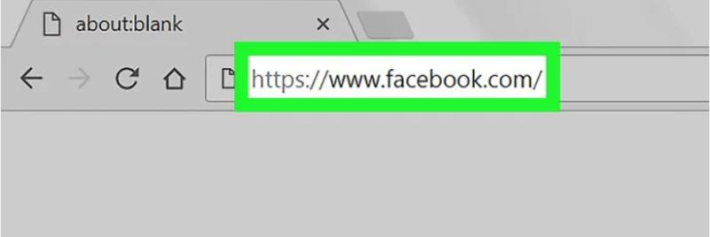 Stap 1 Open de Facebook website