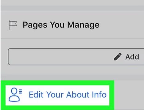 Stap 4 Klik je Info over Info bewerken