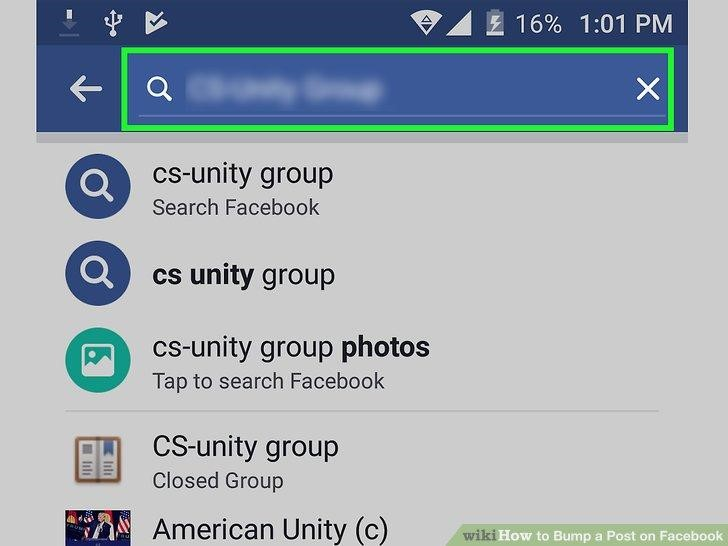 You can only bump post on groups