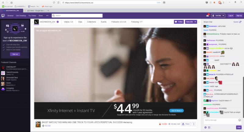 Blocking Twitch ads with Ublock Origin