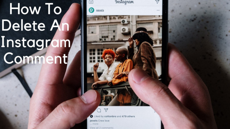 how to delete an Instagram comment