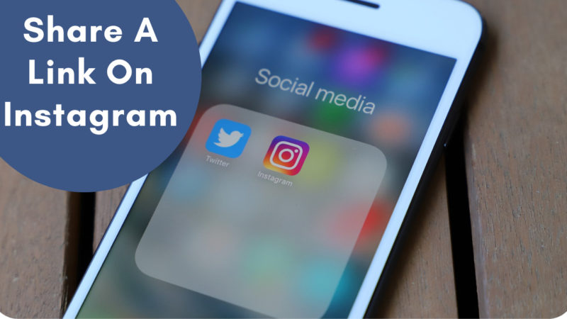 share a link on Instagram