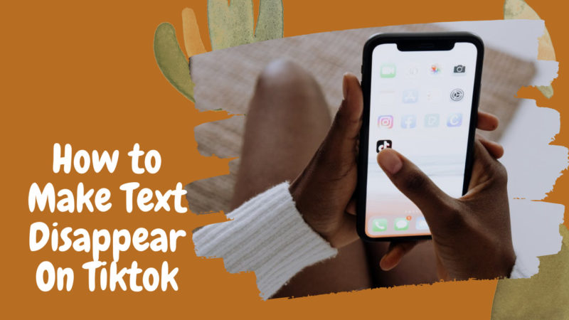 how to make text disappear on tiktok
