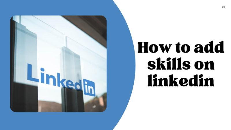 how to add skills on linkedin