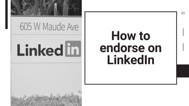how to endorse on LinkedIn