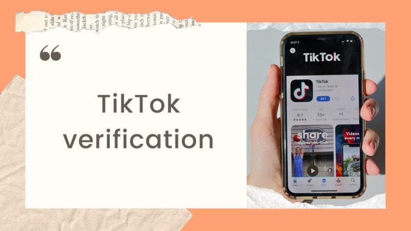 TikTok verification