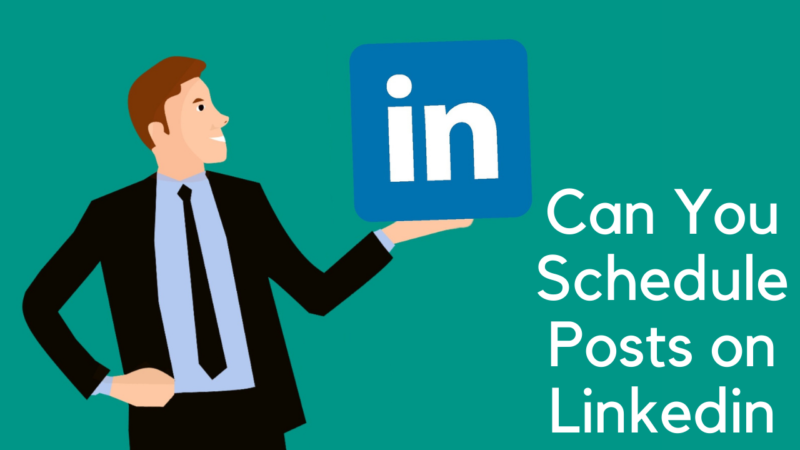 can you schedule posts on linkedin
