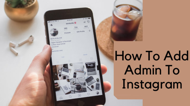 how to add admin to instagram