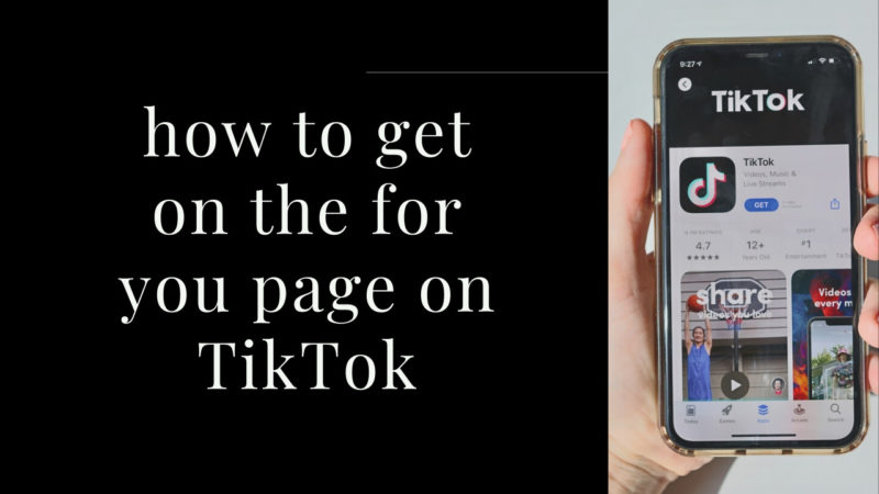 how to get on the foryou page on TikTok