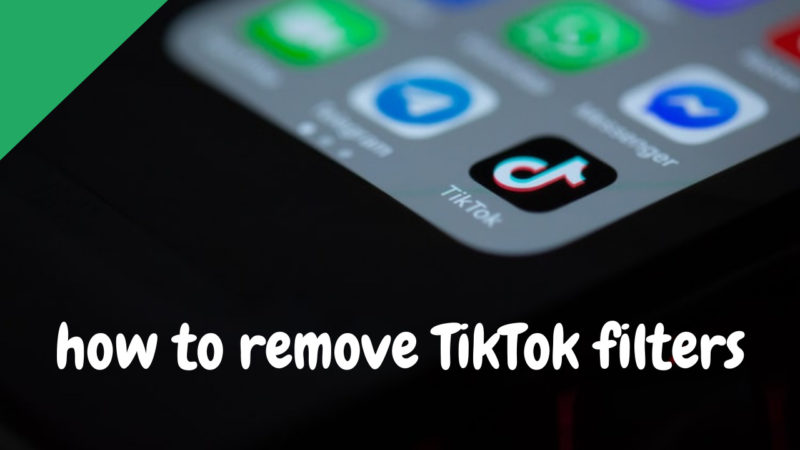 how to remove TikTok filters