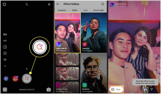 search filters on Instagram
