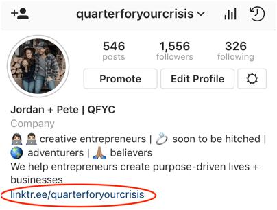 how to put link in Instagram bio