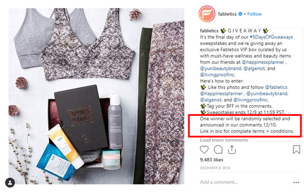 how can you run a giveaway on instagram