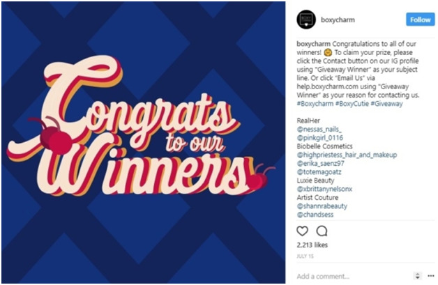 conducting Instagram contests and giveaways