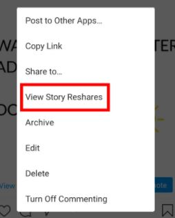 Steps to see who shared your posts on Instagram