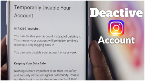 temporarily disable your instagram account