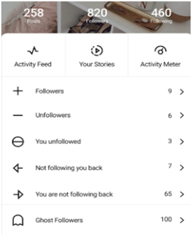 check out accounts that unfollowed you on instagram