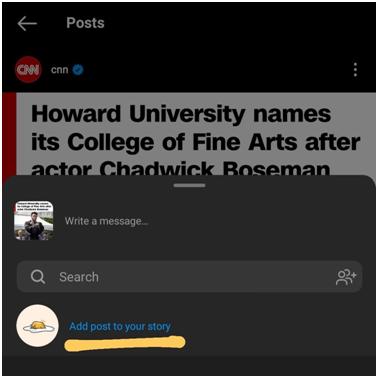 hoe instagram-verhaal reposten