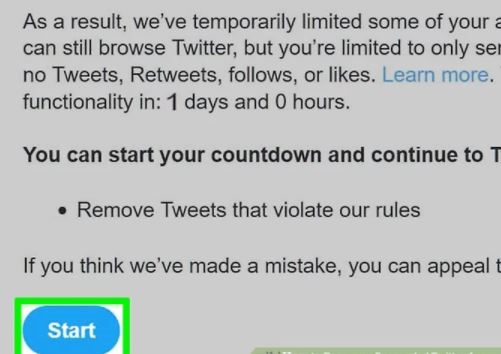 Steps to unsuspend a Twitter account