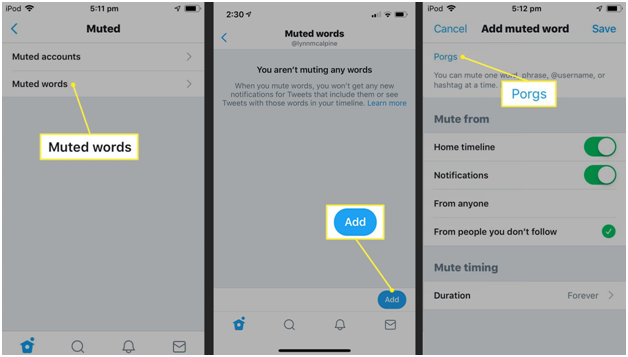 how to mute words on Twitter