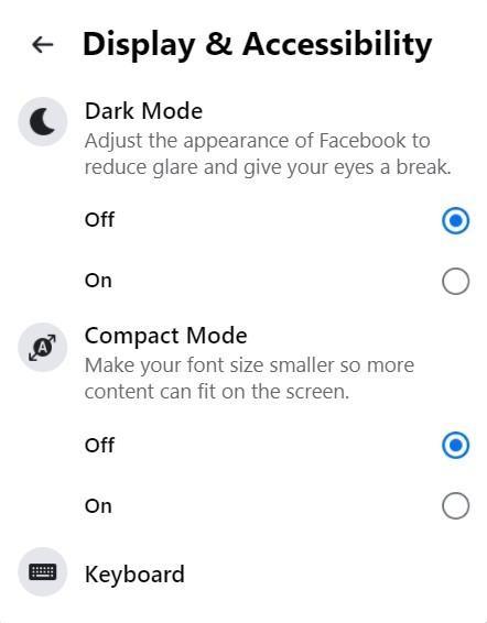 How to make Facebook dark mode
