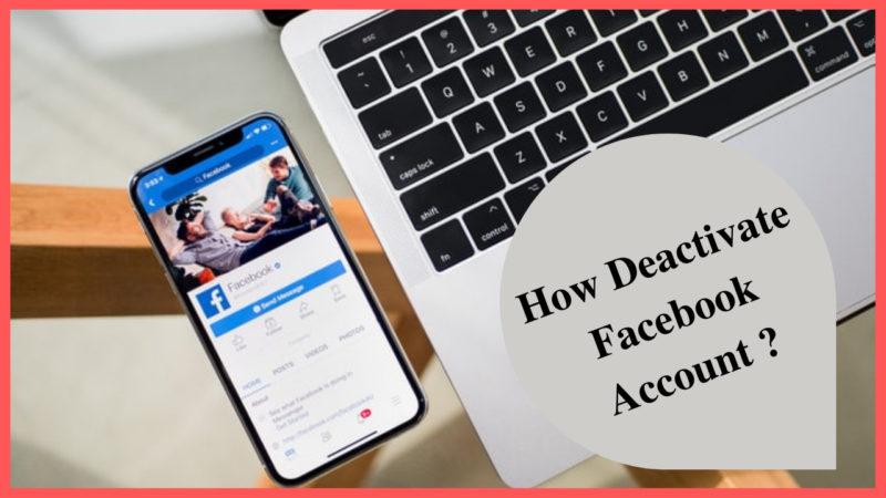 how deactivate Facebook account
