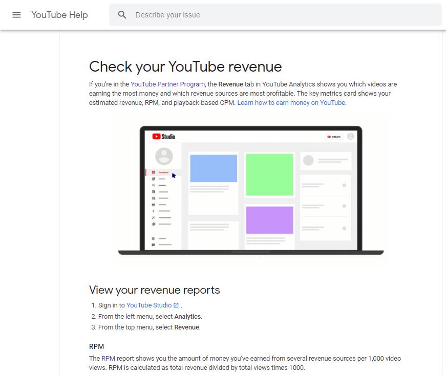 Hoeveel geld per beeld op YouTube