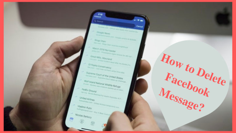 how to delete Facebook message