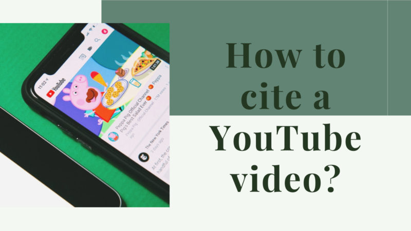 How to cite a YouTube video?