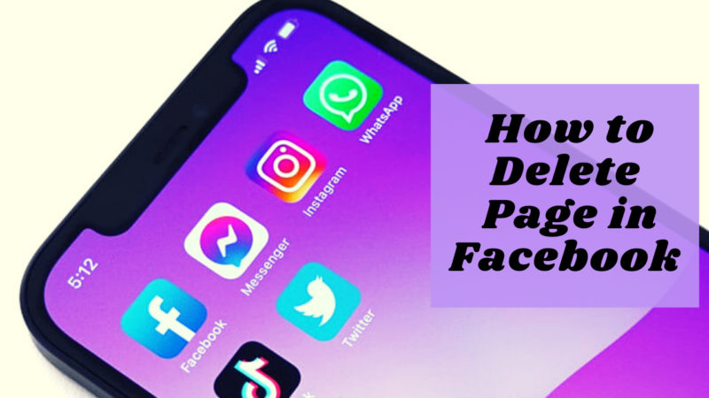 How to delete page in Facebook