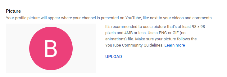 Change YouTube Profile Picture
