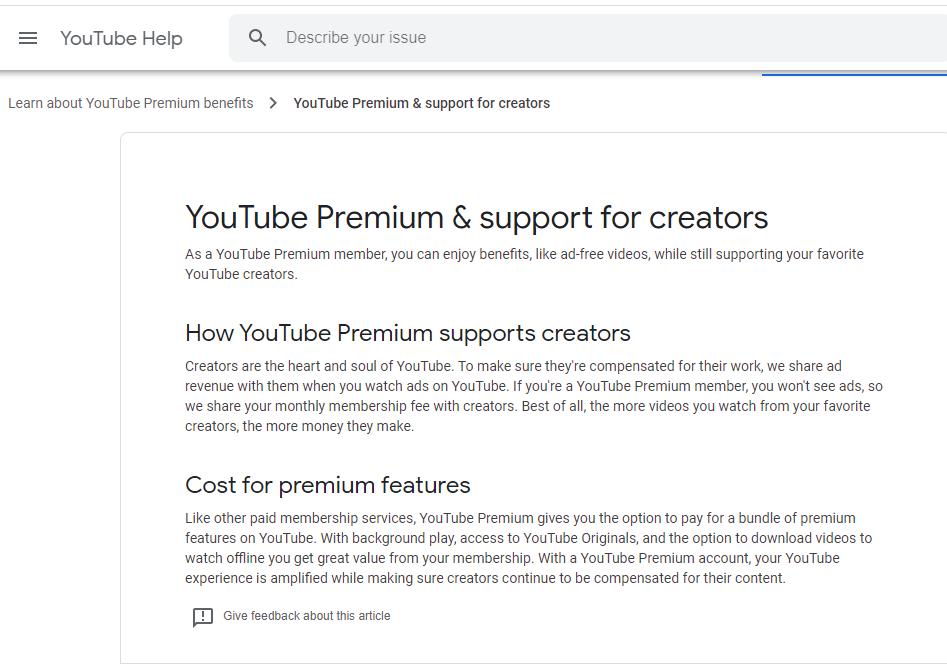 YouTube Premium program