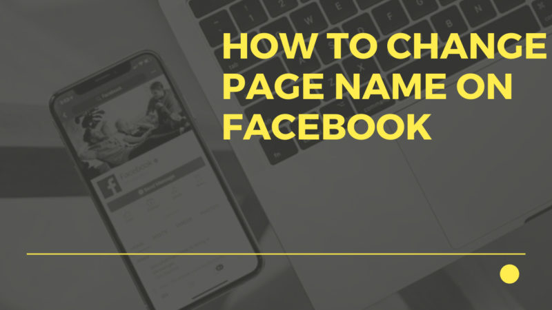 how to change page name on Facebook