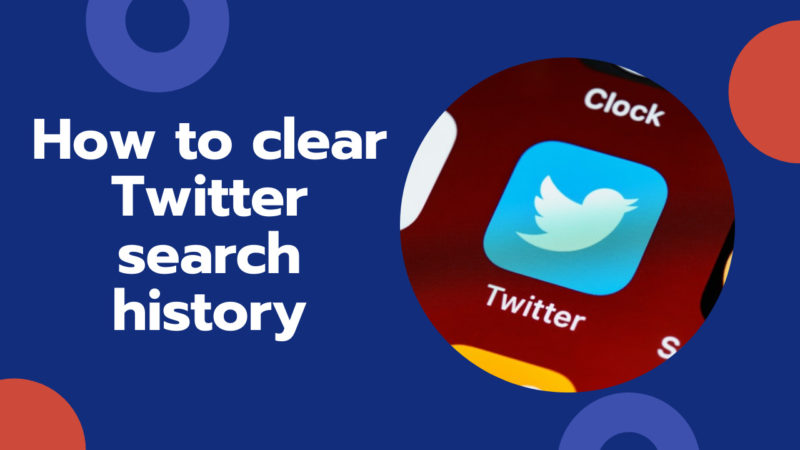 how to clear Twitter search history